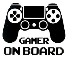 Playstation Gamer on Board Vinyl Decal Sticker 140mm x 114mm - 23 Colours