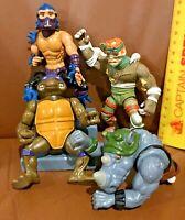 BIG LOT OF VINTAGE 1980S 1990S PLAYMATES ACTION FIGURES  NINJA TURTLES TMNT!!!