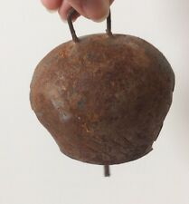 Primitive Rustic Hand Forged Metal Cow Bell Farmhouse Decor Distressed Shabby