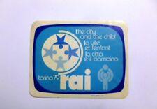 VECCHIO ADESIVO TV RADIO / Old Sticker RAI TELEVISIONE TORINO 1979 (cm 12 x 9)