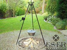 Ungarischer Gusseisen Gulaschkessel 7 L mit Gusseisendeckel, Dreibein und Kurbel