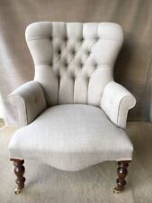 Handmade Linen Traditional Armchairs