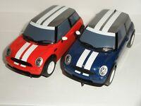 Scalextric - Pair of BMW Mini Cooper (Red & Blue) - Exc. Cdn.