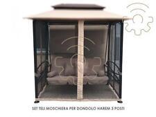 Set teli laterali a moschiera zanzariera per dondolo Harem 3 posti sgancio rapid