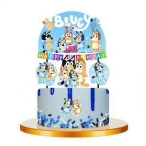 BINGO BLUEY Cupcake Birthday Cake Topper Party Supplies Decoration UK