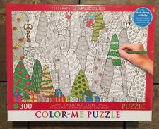 Color Me Jigsaw Puzzle 300 Piece Christmas Trees BNIB Grown Up Anti Stress Relax
