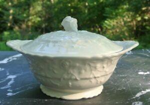 Vintage Rosepoint Steubenville Ivory Creme Lidded Casserole