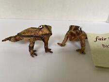 "Frog Handmade from banana figer Made In Kenya African folk art 3"" small figure"