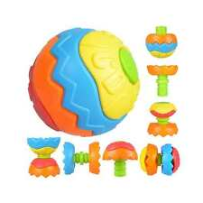 Baby Kids Colorful Grasping Ball Puzzle DIY Shape Assembly Early Educational Toy