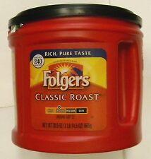 Factory SEAL Folgers Classic Roast Medium Ground Coffee 30.5 oz