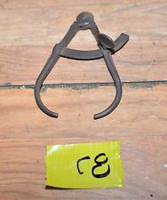 Antique blacksmith forged caliper gunsmith tool black powder ball size tester