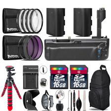 Battery Grip Bundle For Canon 70D / 80D + 2x LP-E6 Battries  + 32GB Kit - 58mm