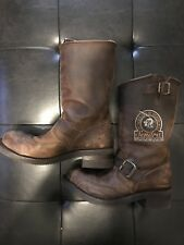 Sendra Motorcycle Boots - Brown Leather - David Beckham US8