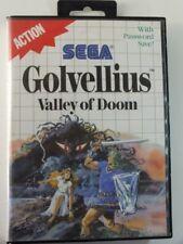 !!! SEGA Master Jeu GOLVELLIUS Valley Of Doom neuf dans sa boîte d'occasion, mais bien!!!
