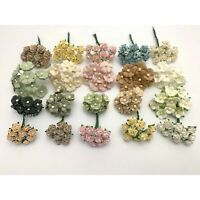 200 MIXED 4 Designs Mini - Small Cottage Rose Paper Flower Scrapbook (R&S-PanA3)