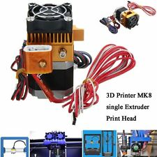 2017 Latest MK8 Extruder Nozzle 1.75mm 0.4 3D Printer Head for Makerbot  AL
