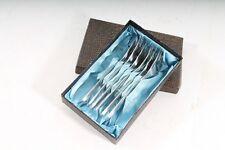Belle ancienne boîte à couverts fourchette à gâteau de DDR OLD VINTAGE 6 TLG