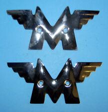 Pair Matchless Cromo Serbatoio indossabili shape of logo 1948-51 01-1928 coppia emblemi