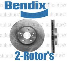 NEW  Set of 2 Front Disc Brake Rotor's BENDIX for Honda Civic Si 06-15