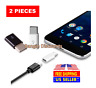 2 Pack Micro USB to Type C Adapter Converter Micro-B to USB-C Connector USA