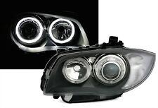 PHARES AVANT AV ANGEL EYES LED NOIR BLANC BMW SERIE 1 E81 E87 09/2004-10/2011