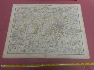 100% ORIGINAL LARGE LONDON MIDDLESEX AREA  MAP BY BARTHOLOMEW C1890 VGC