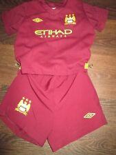 Manchester City 2012-2013 Away Football Shirt Shorts Size 18-24 months /bi