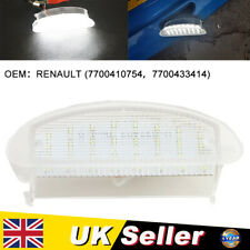 For Renault Clio Twingo 18-SMD Led License Plate Light Clear Lens Number Plate