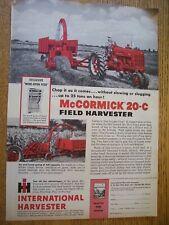 New ListingVintage Farmall International Advertising -# 400 Tractor & 20 Harvester