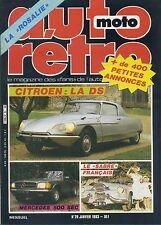 AUTO RETRO n°29 JANVIER 1983 CITROEN DS MERCEDES 500SEC LE SABRE FRANCAIS