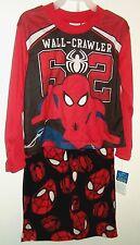 Spider-ManWall - CrawlerPajamas L/S Top & Fleece PantsSet Size 4/5 NWT