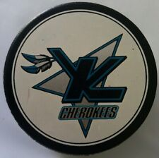KNOXVILLE CHEROKEES RARE VINTAGE OFFICIAL HOCKEY PUCK made in CZECHOSLOVAKIA