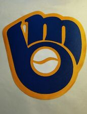 """HUGE MILWAUKEE BREWERS TB IRON-ON PATCH - 7"""" x 7.5"""""""