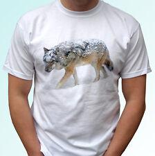Lobo Blanco T Shirt Tee Animal Diseño Superior Regalo-De Hombre Mujer Niños Bebé Tamaños