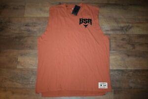 Under Armour Men's Project Rock Show Your BSR Sleeveless 4744 Size M (Orange)