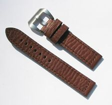 20mm Brown Extra Thick Heavy Duty Leather Watch Band