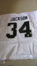 BO JACKSON OAKLAND RAIDERS Signed Autograph Football Jersey COFA AWAY