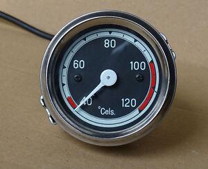 Fernthermometer Ø60mm mit Beleuchtung f. Traktor Schlepper Temperaturanzeige (09