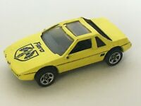 Hot Wheels Yellow Fiero Vintage Toy Car Diecast 1980's 1984 Metal Bottom Pontiac