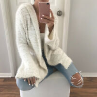 Casual Womens Cardigan Long Sleeve Knit Pullover Jumper Sweater Tops Jacket Coat