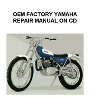 YAMAHA TY250B TY250C TY250D OEM FACTORY OWNER'S SERVICE MANUAL DIGITIZED ON CD