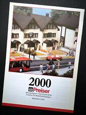 """Preiser Prospekt """"Neuheiten 2000"""", DIN A4, 8 Seiten, Neu!"""