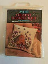 Vintage Avon Creative Needlecraft Crewel Embroidery Kit ~ Bee Garden Pillow New
