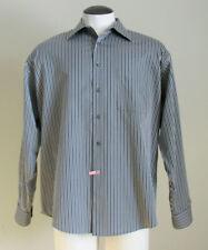 Pronto Uomo Men's Brown Striped Long Sleeve Dress Shirt Size XL