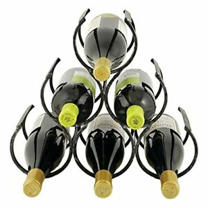 Twine Country Home Metal Wine Rack Set of 1 Freestanding Vintage Wine Bottle ...