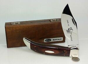 Vtg Case P172 Buffalo Folding Hunters Knife 1975 Wood w Original Box UNUSED