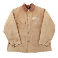 Vintage CARHARTT Blanket Lined Chore Coat | Men's L | Jacket Work Wear Canvas