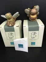 Thun Bozner Ceramic Figurines New In Boxes Set Of Two Dragonfly And Bee. Cute!