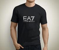 New EA7 Short Sleeve Men's Black T-Shirt Size S to 5XL