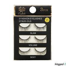 3 Paires faux-cils longs épais naturels 3D beauté maquillage cosmétiques modèles